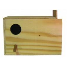 Wooden Budgie Nest Box. W 24 x H 15 cm