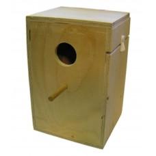Wooden Small Parakeet Nest Box. W 19 x H 26.5 cm