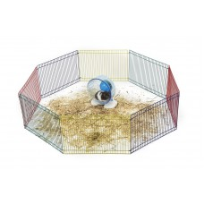 Little Zoo Hamster Play Pen Multi Coloured, 8 Panels