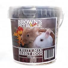 Rabbit Food Fruity Mix 450g Browns Pet Food Range