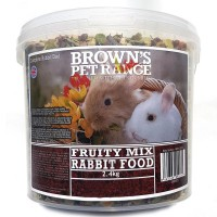 Rabbit Food Fruity Mix 2.4kg Browns Pet Food Range