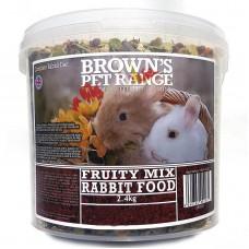 Rabbit Food Fruity Mix 2.4kg Browns Pet Food Range