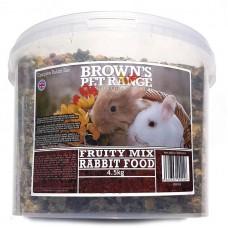 Rabbit Food Fruity Mix 4.5kg Browns Pet Food Range
