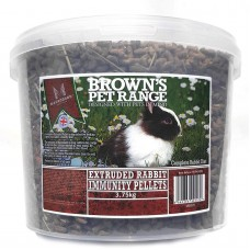 Rabbit Immunity Pellet, Extruded Rabbit Food, 3.75kg Browns Pet Food Range