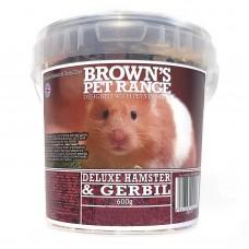 Hamster Food Deluxe Hamster/Gerbil Mix 600g Browns Pet Food Range