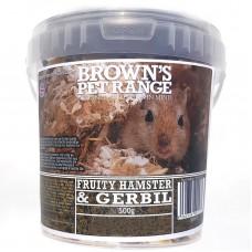 Hamster Food Fruity Hamster/Gerbil Mix 500g Browns Pet Food Range