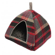 Gor Pets Camden Deluxe Cat/Small Dog Pyramid Bed Red Check