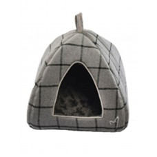 Gor Pets Camden Deluxe Cat/Small Dog Pyramid Bed Grey Check