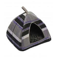 Gor Pets Camden Deluxe Cat/Small Dog Pyramid Bed Purple Check