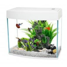 Panoramic Fish Tank 12L Black