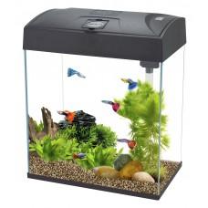 Rectangular Fish Tank High Top 28L Black