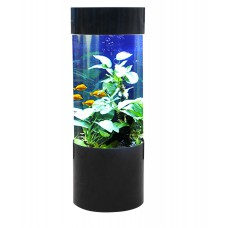 Fish R Fun 80L Column Cylinder shaped Acrylic Aquarium Black