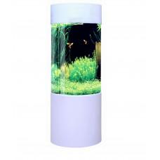 Fish R Fun 80L Column Cylinder shaped Acrylic Aquarium White