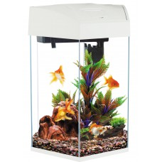Hexagonal Fish Tank 21.6L White Colour