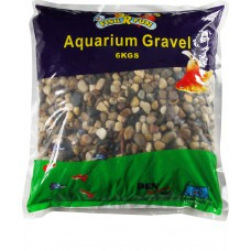 Aquarium Gravel, Small Natural Pebble 6kg Bag
