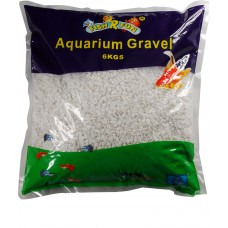 Aquarium Gravel, White Gravel 6kg Bag