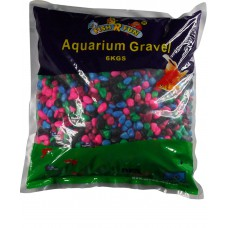 Aquarium Gravel, Rainbow Coated Gravel 6kg Bag