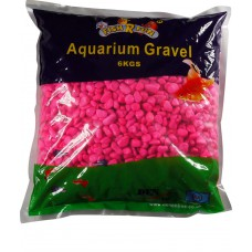 Aquarium Gravel, Pink Coated Gravel 6kg Bag