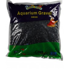 Aquarium Gravel, Black Coated Gravel 6kg Bag