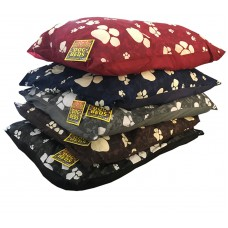 Dog Bed Large With Paw Prints & Removable Cover Assorted Colours 94 x 67cm