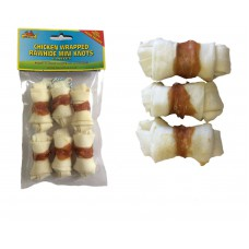 MULTI PACK SAVER Rawhide Chicken Wrapped Knots, Dog Chew 5cm