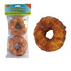 MULTI PACK SAVER Rawhide Chicken Wrapped Donuts, Dog Chew 12cm