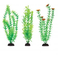 "Plastic Aquarium Plants 4"" Penn Plax, Pack Of 6 Green Assorted"