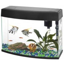 New LED Panoramic Fish Tank 20L Black