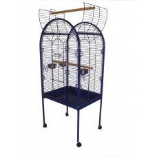 Open Top Parrot Cage Blue