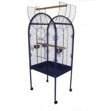 Open Top Parrot Cage Blue