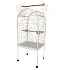 Open Top Parrot Cage White