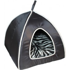 Cat Igloo Bed Black