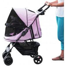 Pet Gear Happy Trails No-Zip Stroller, Pink Diamond