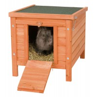Trixie Rabbit & Guinea Pig, Cat Hideout With Lift Up Roof & Ramp