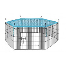 Rabbit & Guinea Pig Pen, Metal Outdoor Run, With Sunshade LB-APS