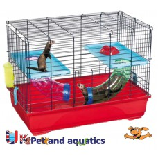 Ferret Indoor Activity Cage With Tubes 80cm